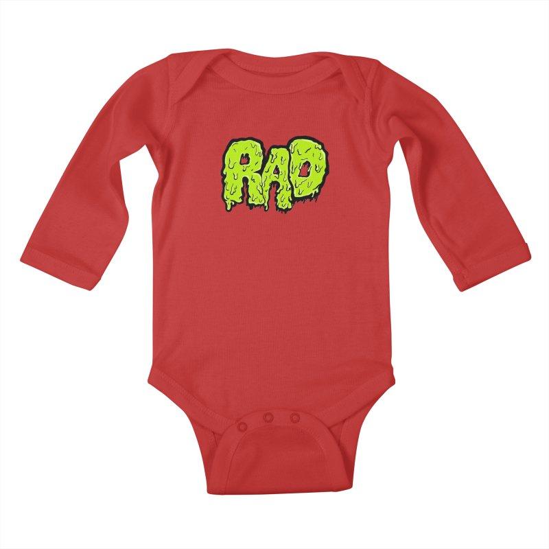Rad Kids Baby Longsleeve Bodysuit by Greg Gosline Design Co.