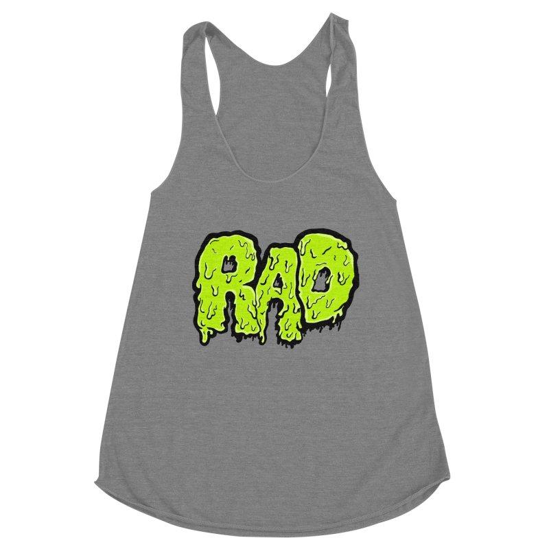 Rad Women's Racerback Triblend Tank by Greg Gosline Design Co.