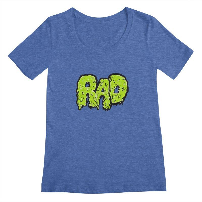 Rad Women's Scoopneck by Greg Gosline Design Co.