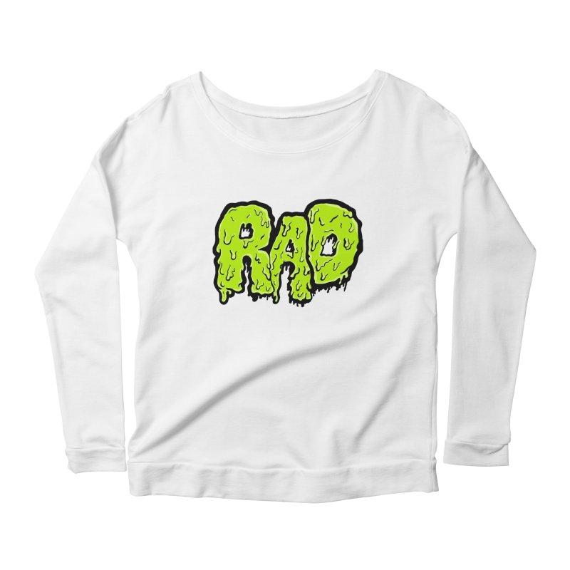 Rad Women's Scoop Neck Longsleeve T-Shirt by Greg Gosline Design Co.