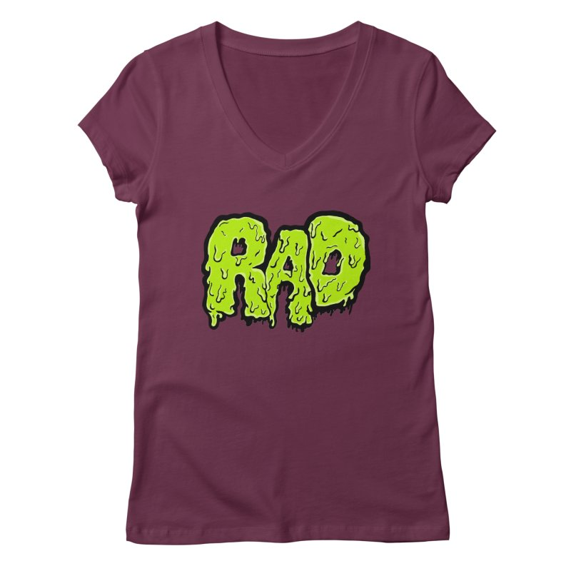 Rad Women's V-Neck by Greg Gosline Design Co.