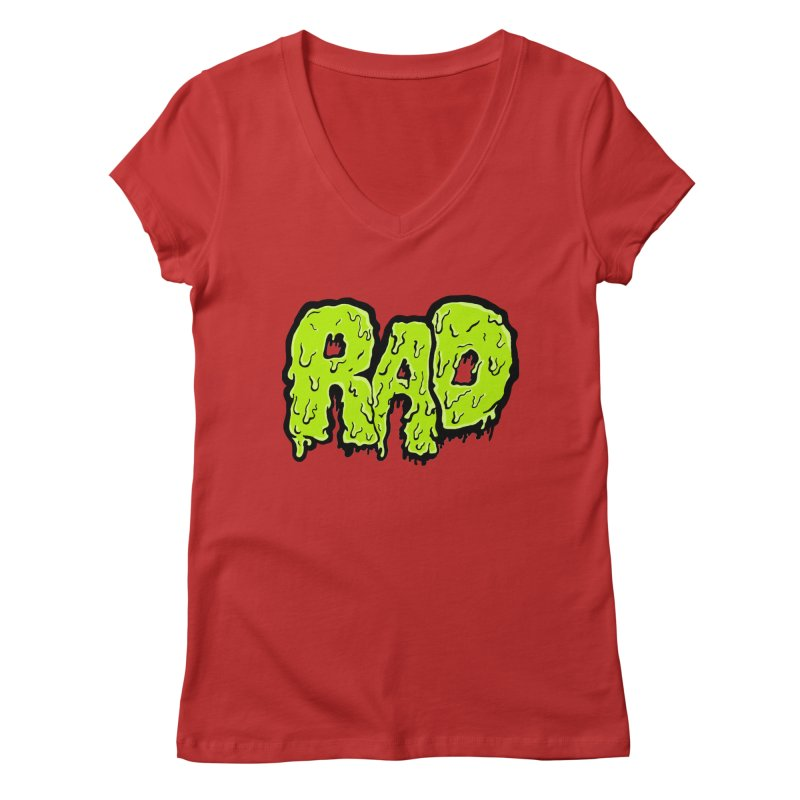 Rad Women's V-Neck by Greg Gosline Design Co.