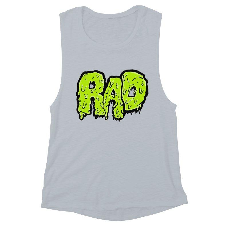 Rad Women's Muscle Tank by Greg Gosline Design Co.