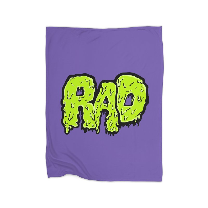 Rad Home Fleece Blanket Blanket by Greg Gosline Design Co.