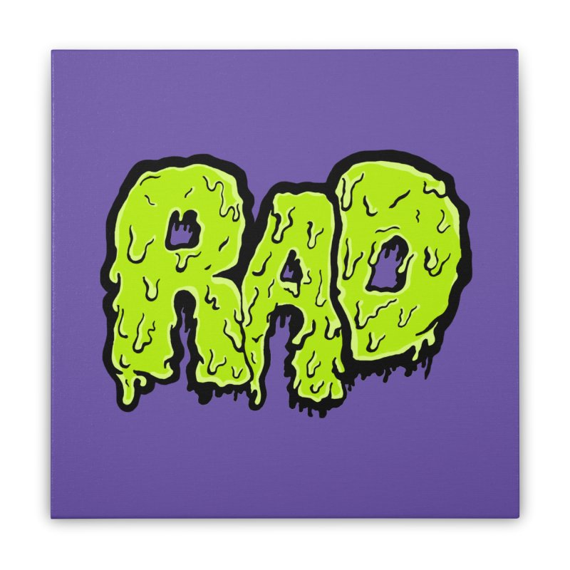 Rad Home Stretched Canvas by Greg Gosline Design Co.