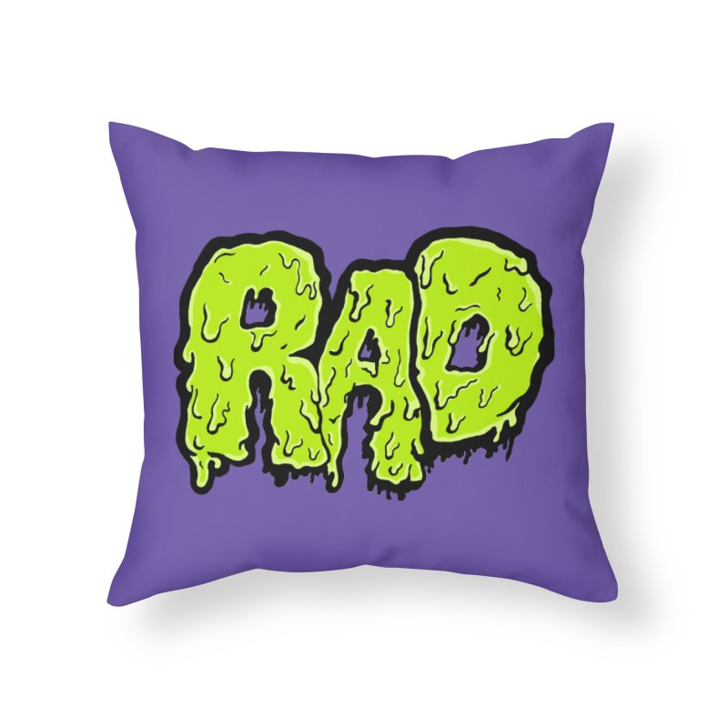 Rad Home Throw Pillow by Greg Gosline Design Co.