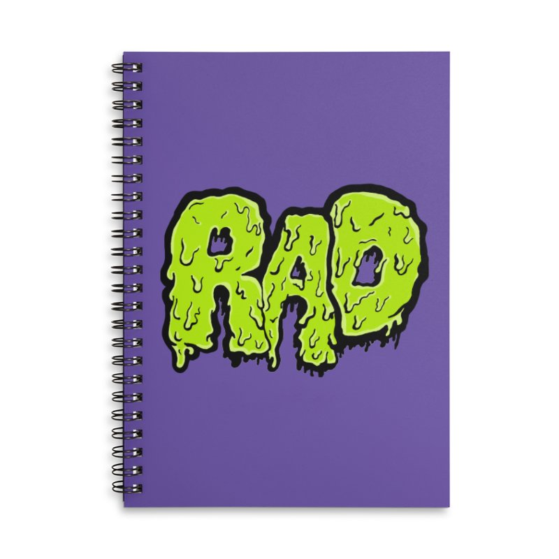 Rad Accessories Lined Spiral Notebook by Greg Gosline Design Co.