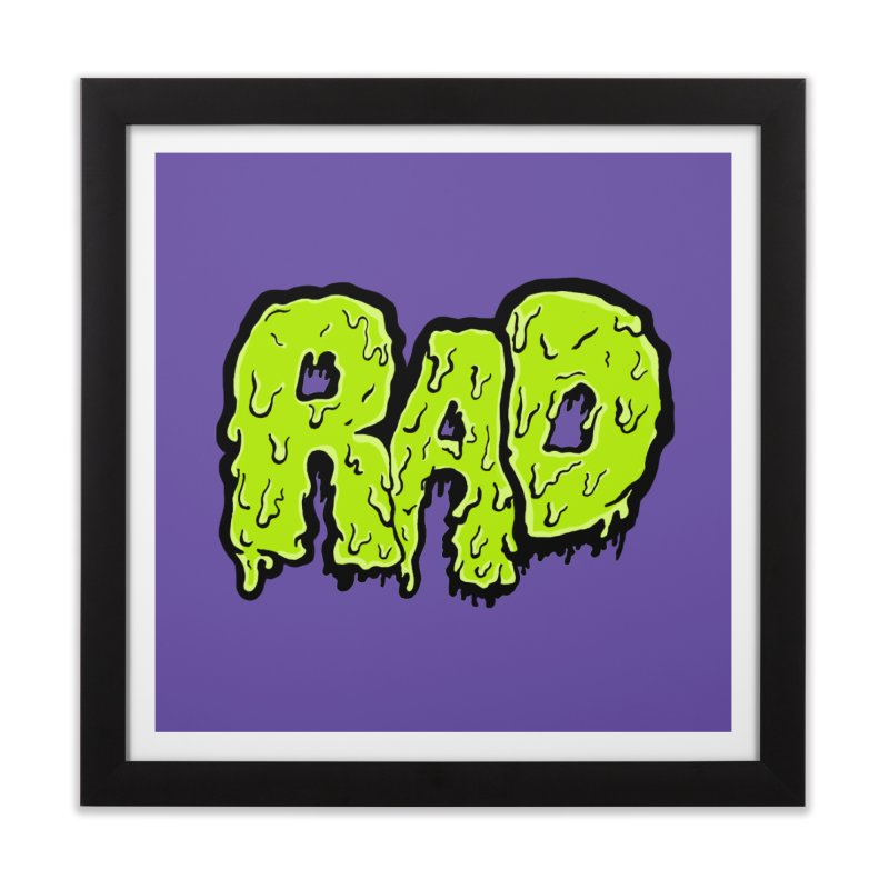 Rad Home Framed Fine Art Print by Greg Gosline Design Co.