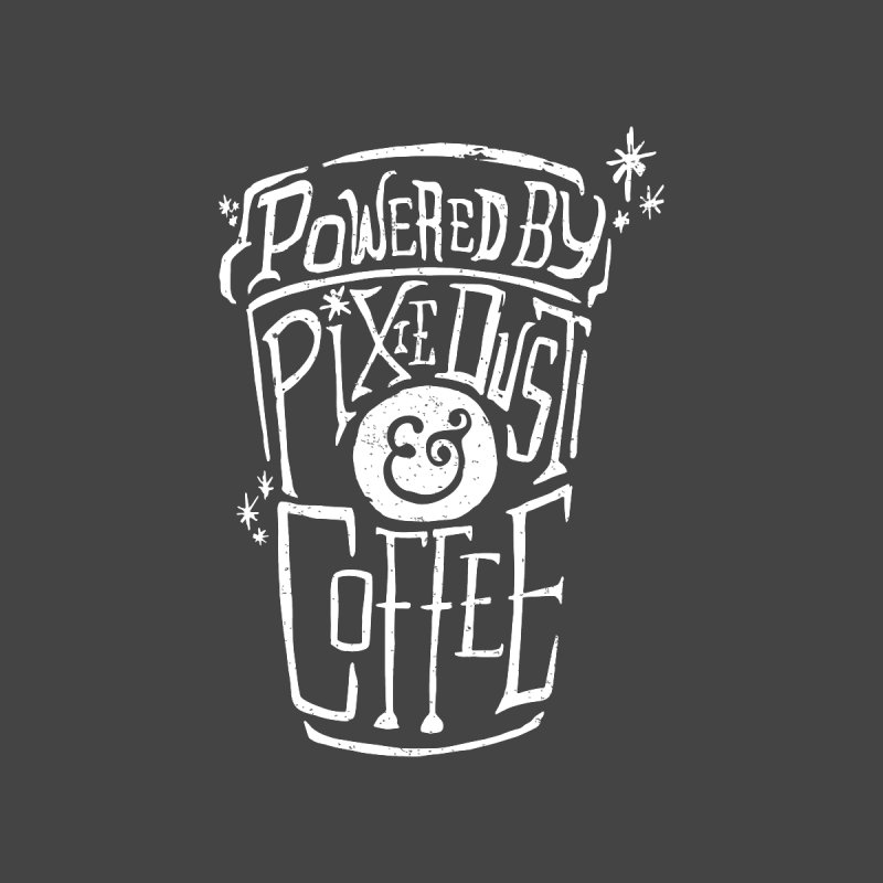 Powered By Pixie Dust & Coffee Women's V-Neck by Greg Gosline Design Co.