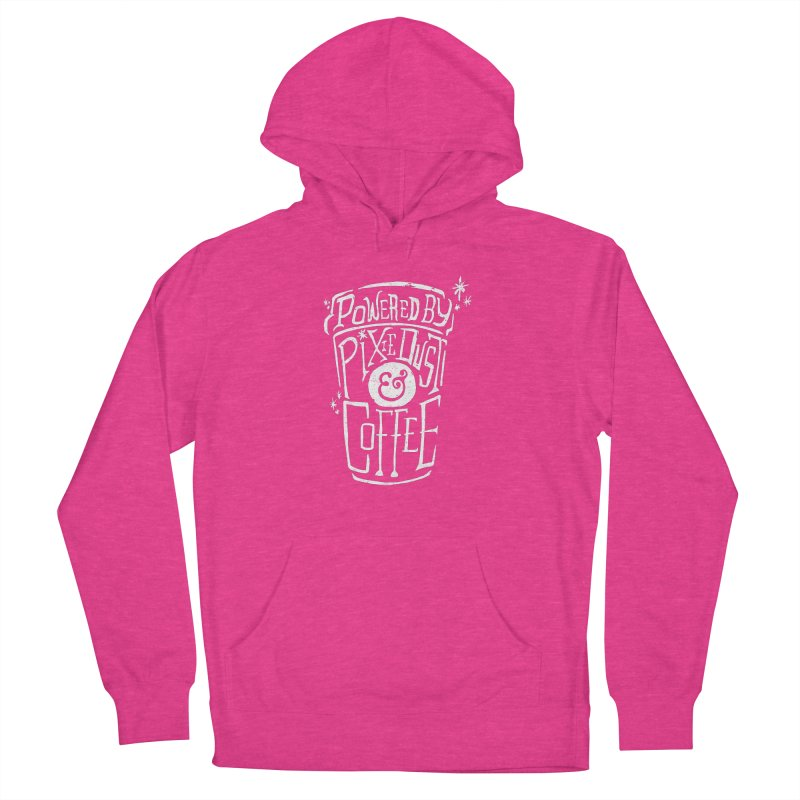 Powered By Pixie Dust & Coffee Men's French Terry Pullover Hoody by Greg Gosline Design Co.