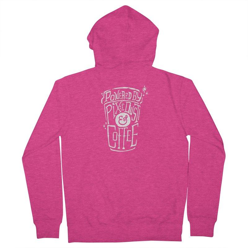 Powered By Pixie Dust & Coffee Women's Zip-Up Hoody by Greg Gosline Design Co.