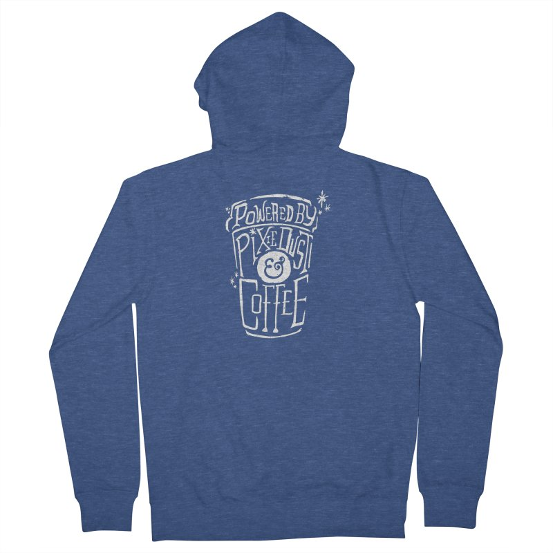 Powered By Pixie Dust & Coffee Men's Zip-Up Hoody by Greg Gosline Design Co.