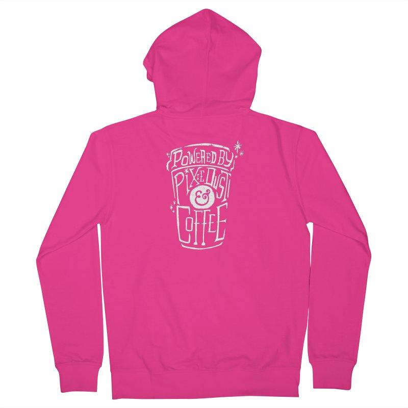 Powered By Pixie Dust & Coffee Men's Zip-Up Hoody by Greg Gosline Design Co.