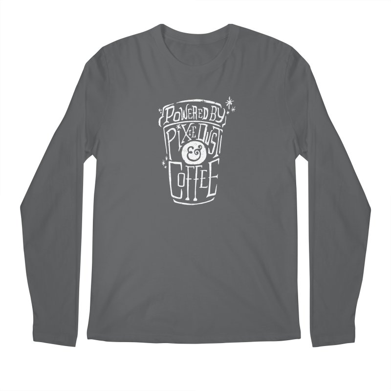 Powered By Pixie Dust & Coffee Men's Longsleeve T-Shirt by Greg Gosline Design Co.