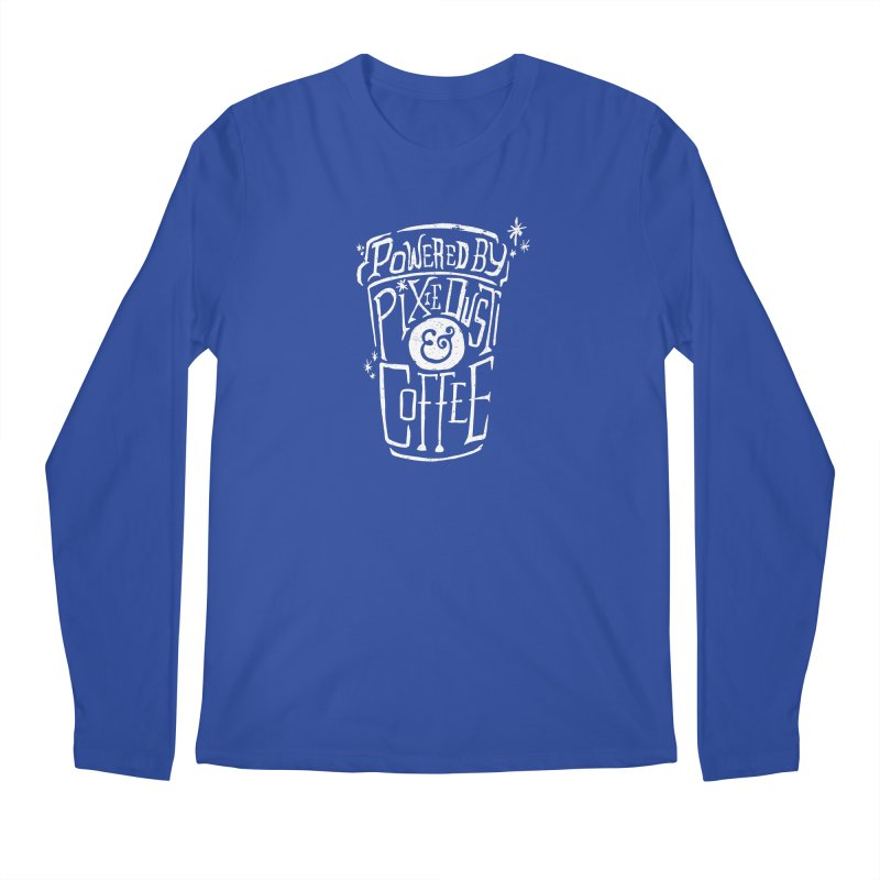 Powered By Pixie Dust & Coffee Men's Regular Longsleeve T-Shirt by Greg Gosline Design Co.