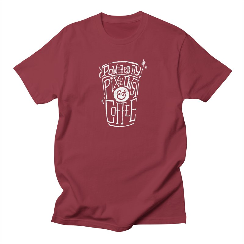 Powered By Pixie Dust & Coffee Women's Regular Unisex T-Shirt by Greg Gosline Design Co.