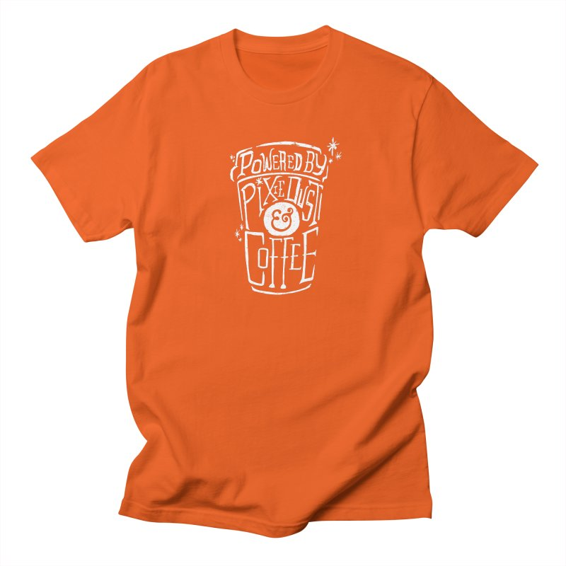 Powered By Pixie Dust & Coffee Women's Unisex T-Shirt by Greg Gosline Design Co.