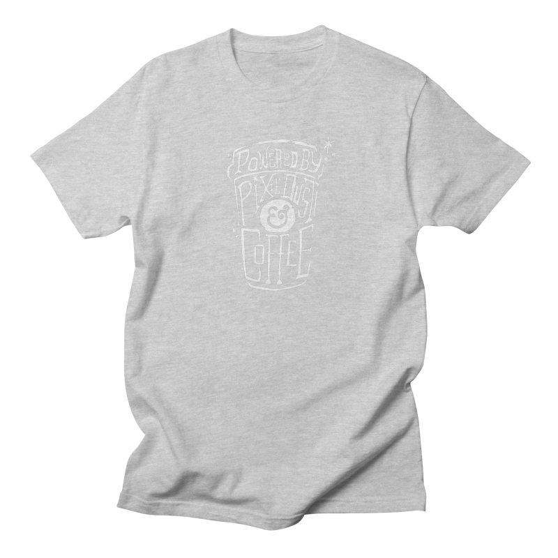 Powered By Pixie Dust & Coffee Women's Regular Unisex T-Shirt by Greg Gosline Design Co.