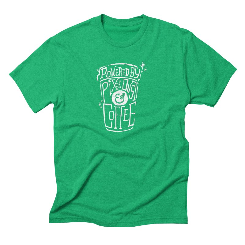 Powered By Pixie Dust & Coffee Men's Triblend T-Shirt by Greg Gosline Design Co.