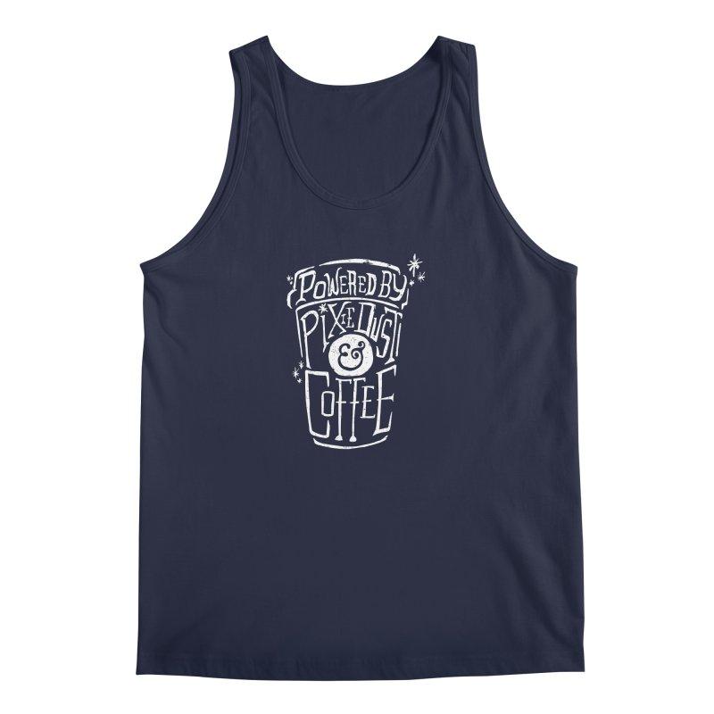 Powered By Pixie Dust & Coffee Men's Tank by Greg Gosline Design Co.