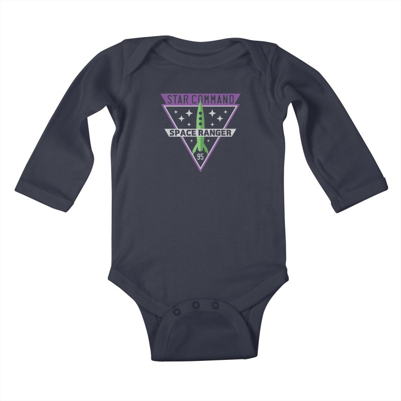 Star Command Kids Baby Longsleeve Bodysuit by Greg Gosline Design Co.