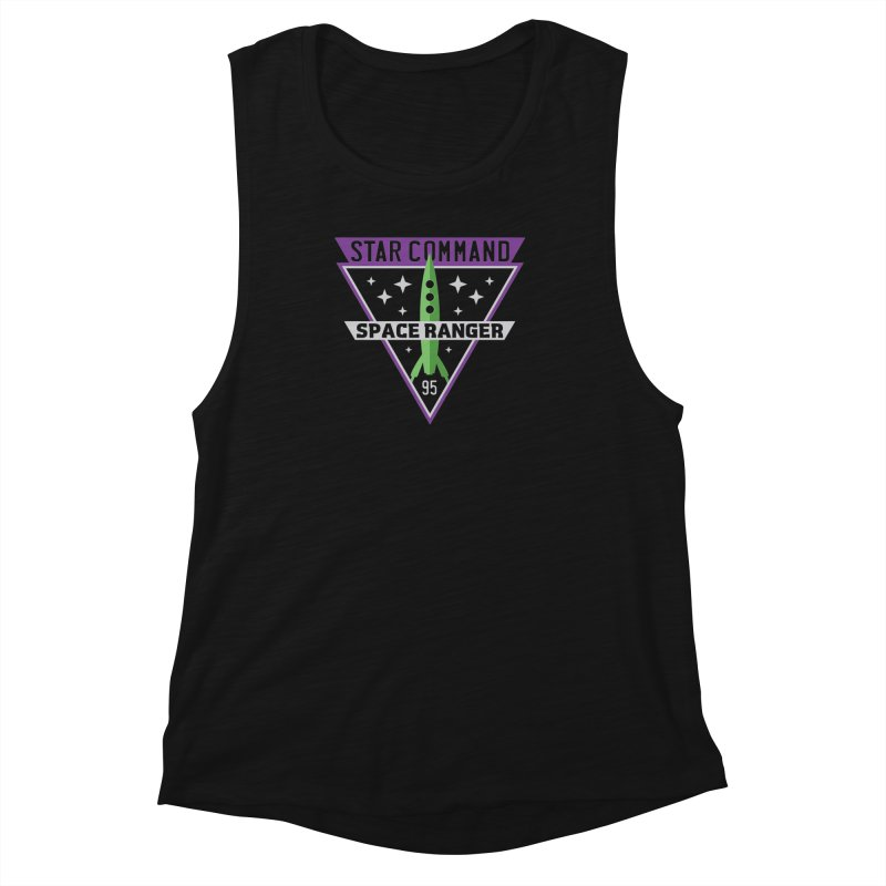 Star Command Women's Muscle Tank by Greg Gosline Design Co.