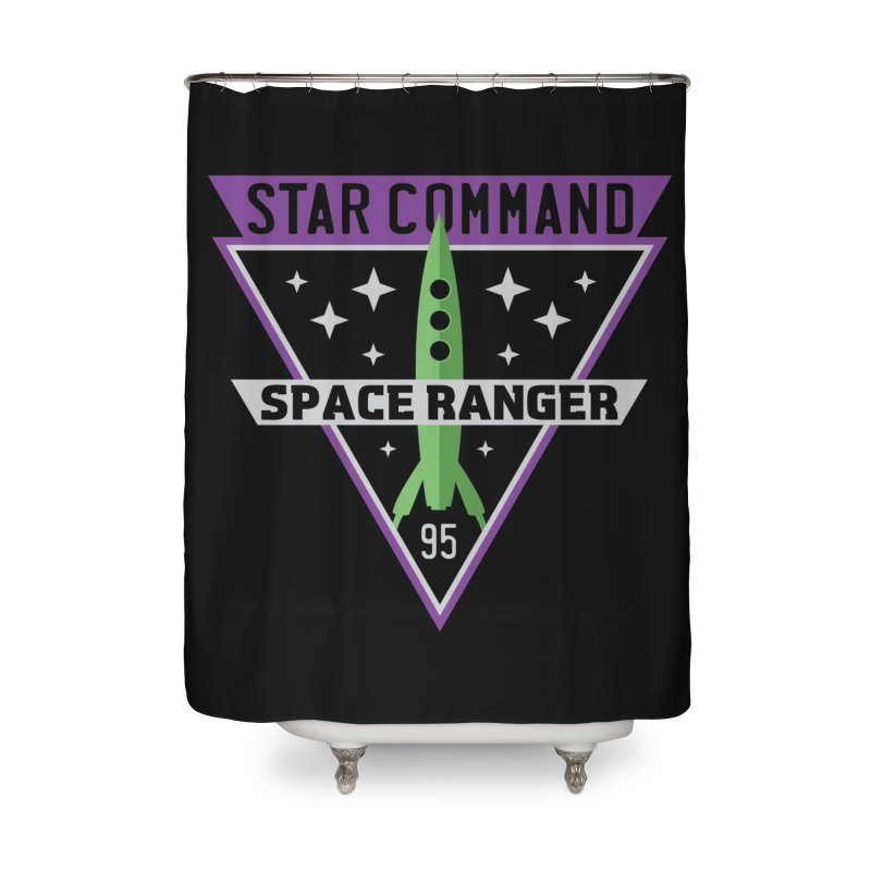 Star Command Home Shower Curtain by Greg Gosline Design Co.
