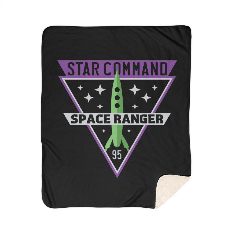 Star Command Home Sherpa Blanket Blanket by Greg Gosline Design Co.