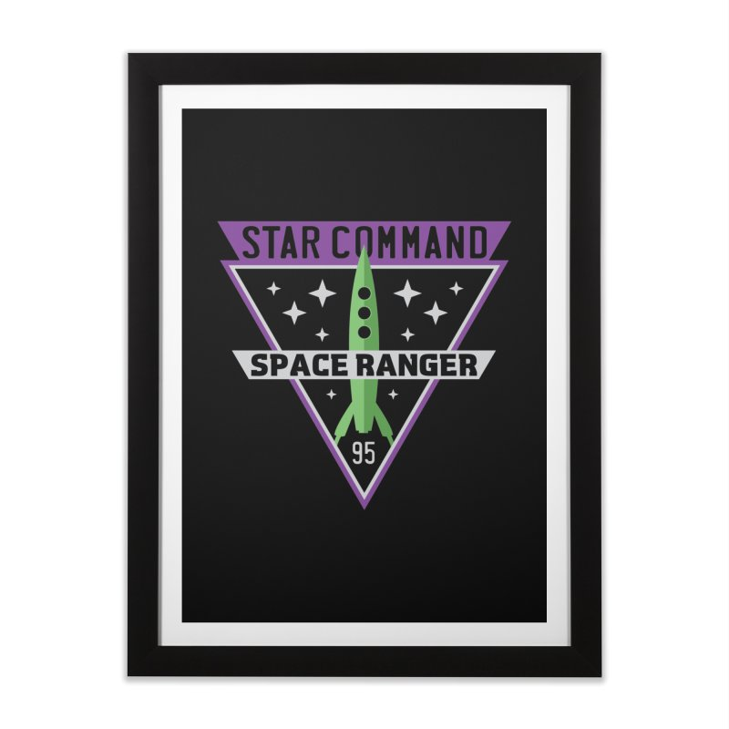 Star Command Home Framed Fine Art Print by Greg Gosline Design Co.