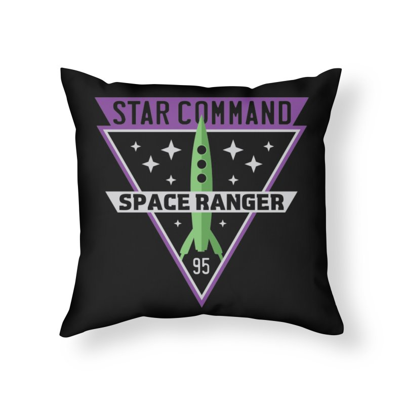 Star Command Home Throw Pillow by Greg Gosline Design Co.