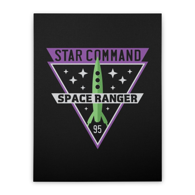 Star Command Home Stretched Canvas by Greg Gosline Design Co.