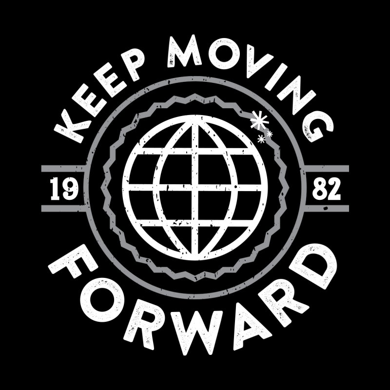 Keep Moving Forward Kids Baby Zip-Up Hoody by Greg Gosline Design Co.