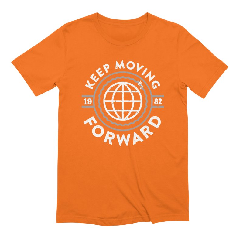 Keep Moving Forward Men's Extra Soft T-Shirt by Greg Gosline Design Co.