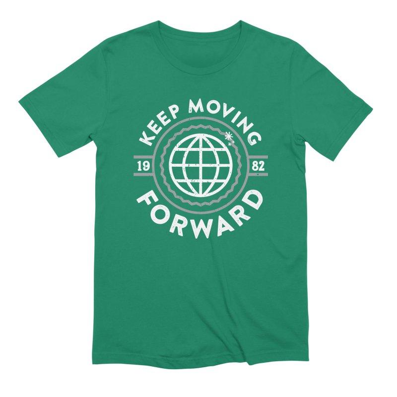 Keep Moving Forward Men's Extra Soft T-Shirt by Greg Gosline Design Co.