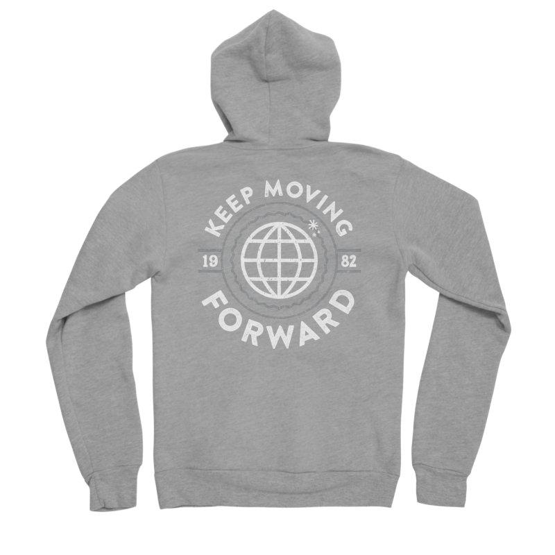 Keep Moving Forward Men's Sponge Fleece Zip-Up Hoody by Greg Gosline Design Co.