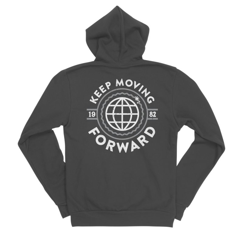 Keep Moving Forward Women's Sponge Fleece Zip-Up Hoody by Greg Gosline Design Co.