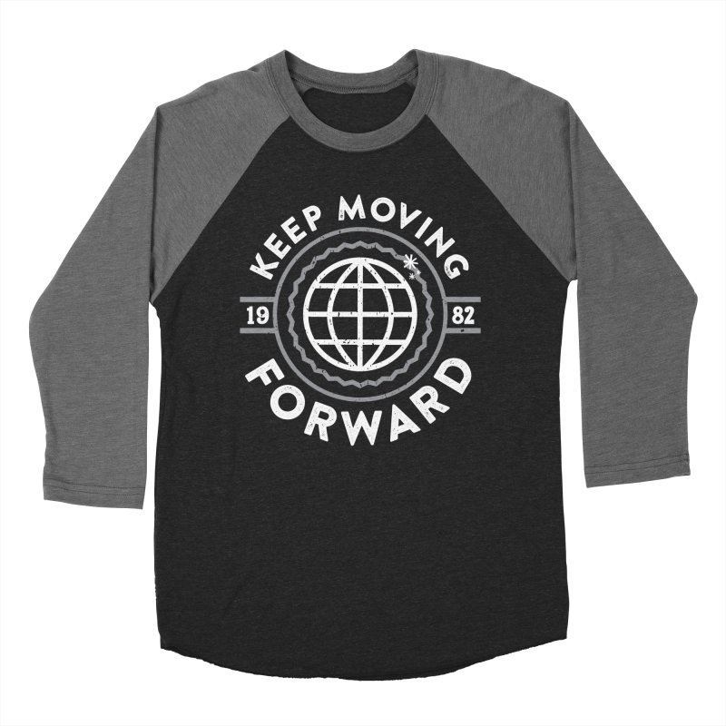 Keep Moving Forward Women's Baseball Triblend Longsleeve T-Shirt by Greg Gosline Design Co.