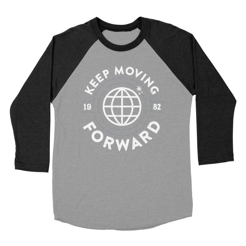 Keep Moving Forward Men's Baseball Triblend Longsleeve T-Shirt by Greg Gosline Design Co.