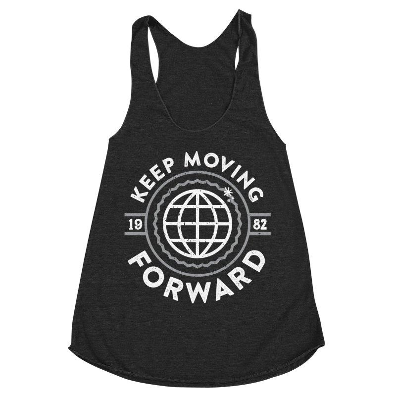 Keep Moving Forward Women's Racerback Triblend Tank by Greg Gosline Design Co.