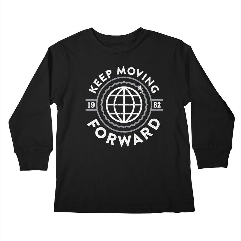 Keep Moving Forward Kids Longsleeve T-Shirt by Greg Gosline Design Co.