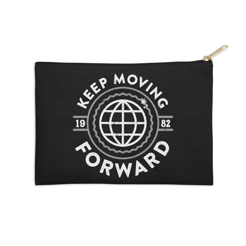 Keep Moving Forward Accessories Zip Pouch by Greg Gosline Design Co.