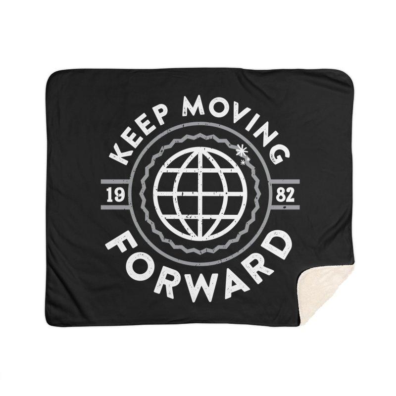 Keep Moving Forward Home Sherpa Blanket Blanket by Greg Gosline Design Co.