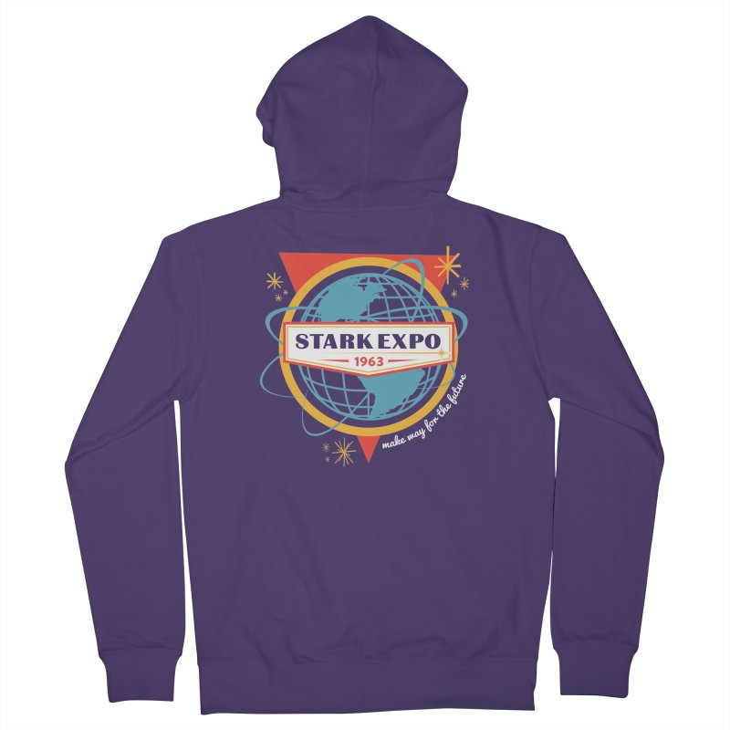 Expo 63 Women's French Terry Zip-Up Hoody by Greg Gosline Design Co.