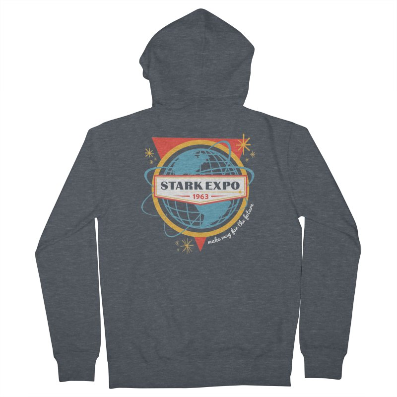 Expo 63 Men's French Terry Zip-Up Hoody by Greg Gosline Design Co.
