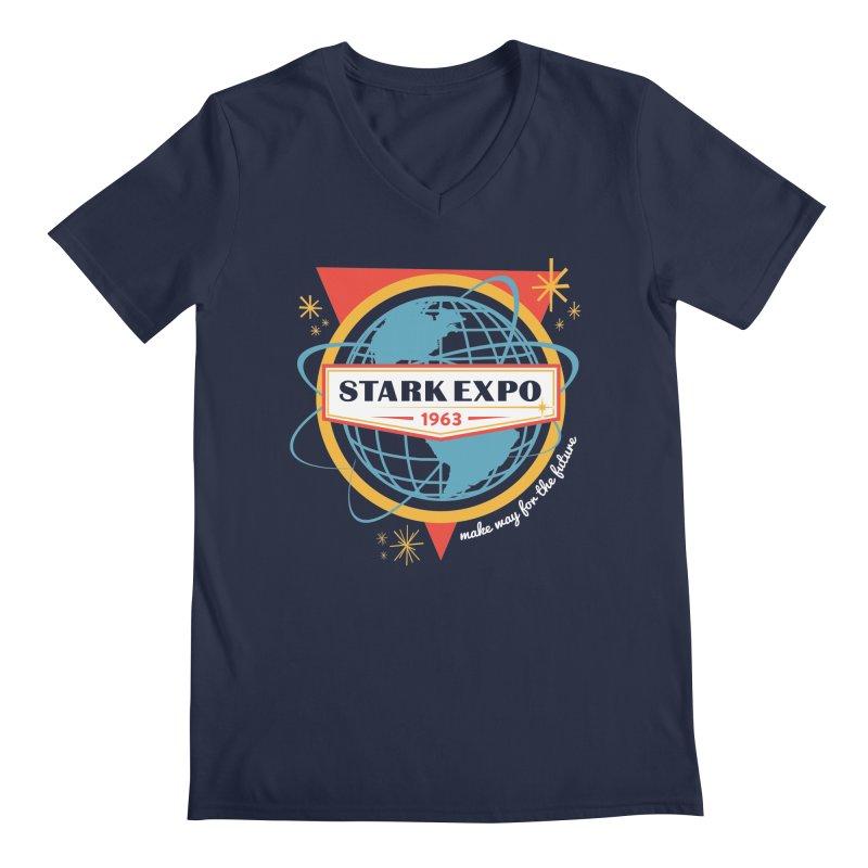 Expo 63 Men's Regular V-Neck by Greg Gosline Design Co.