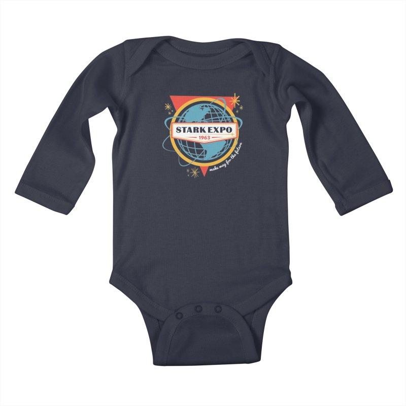 Expo 63 Kids Baby Longsleeve Bodysuit by Greg Gosline Design Co.