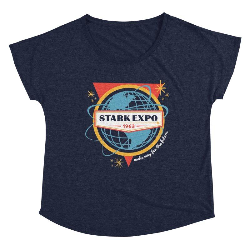 Expo 63 Women's Dolman Scoop Neck by Greg Gosline Design Co.