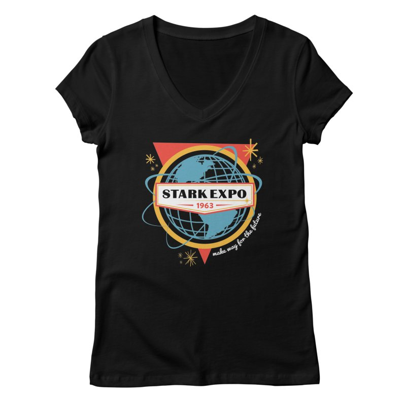 Expo 63 Women's V-Neck by Greg Gosline Design Co.