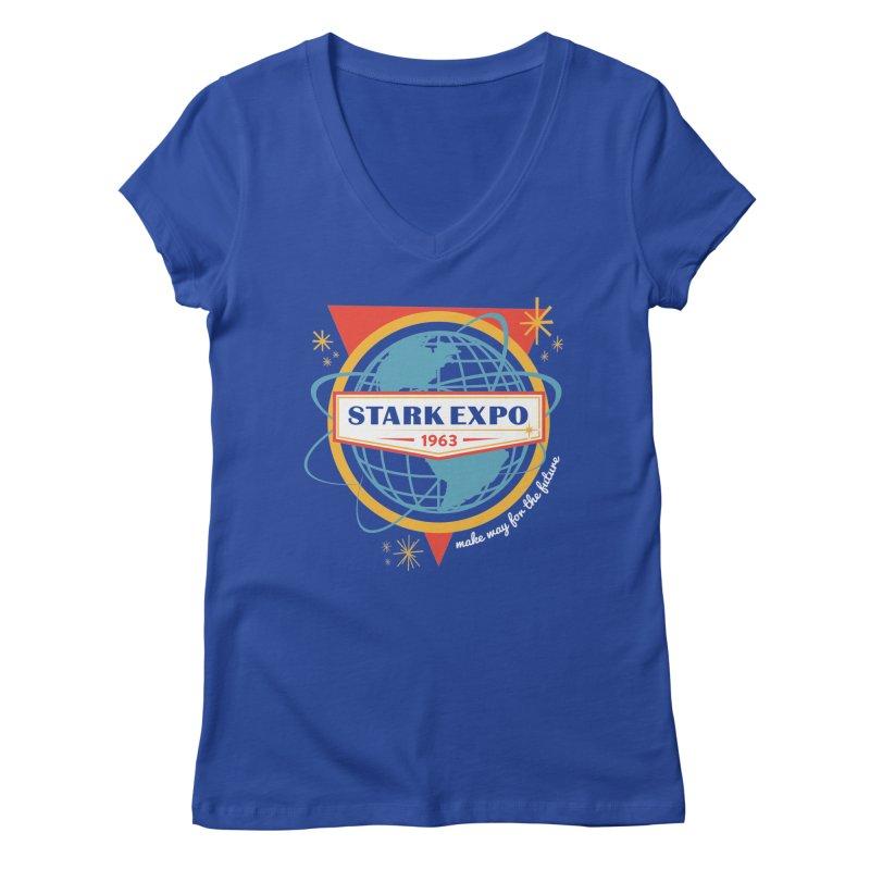 Expo 63 Women's Regular V-Neck by Greg Gosline Design Co.