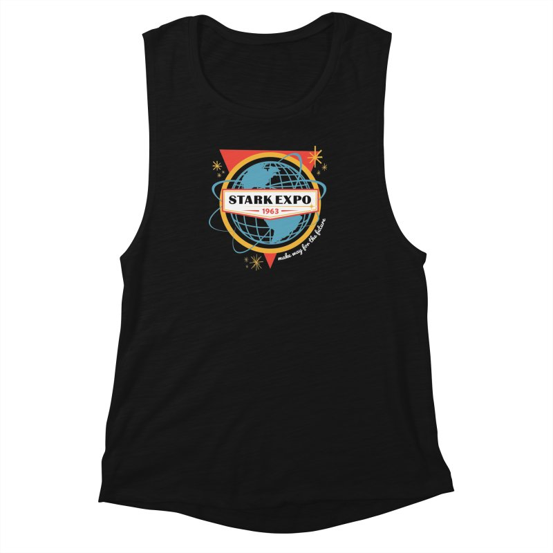 Expo 63 Women's Muscle Tank by Greg Gosline Design Co.